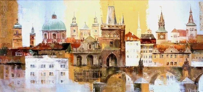 她画的建筑,色彩太迷人了!捷克女艺术家维罗妮卡·贝诺尼插图42