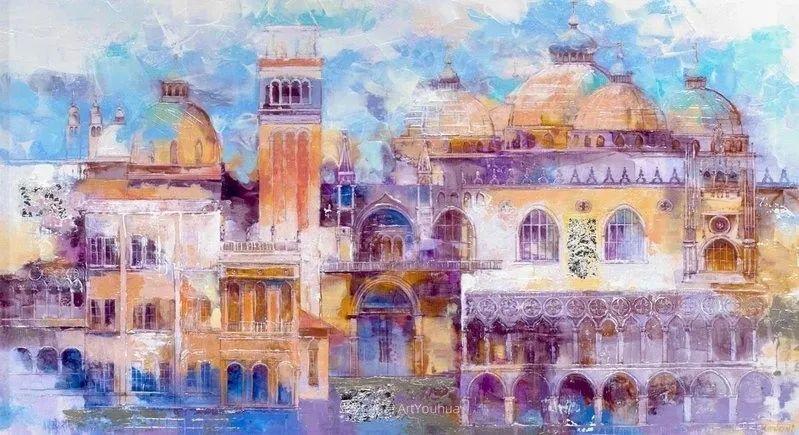 她画的建筑,色彩太迷人了!捷克女艺术家维罗妮卡·贝诺尼插图47