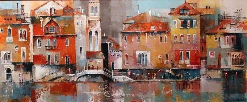 她画的建筑,色彩太迷人了!捷克女艺术家维罗妮卡·贝诺尼插图49