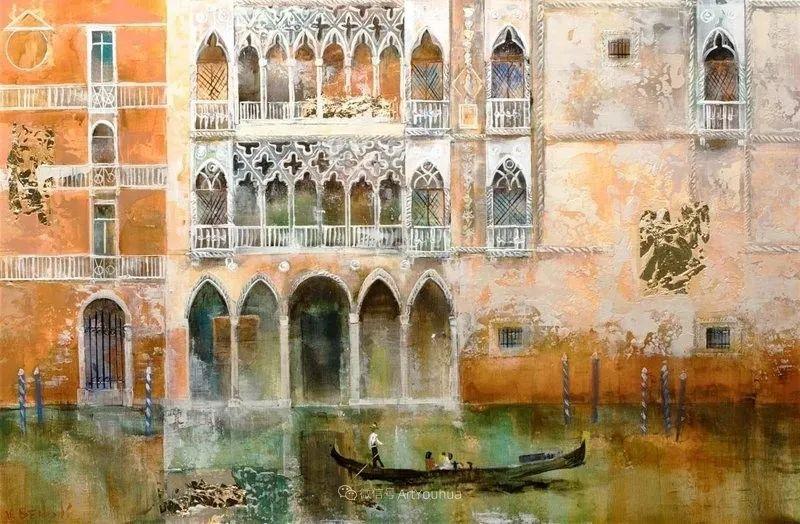 她画的建筑,色彩太迷人了!捷克女艺术家维罗妮卡·贝诺尼插图50