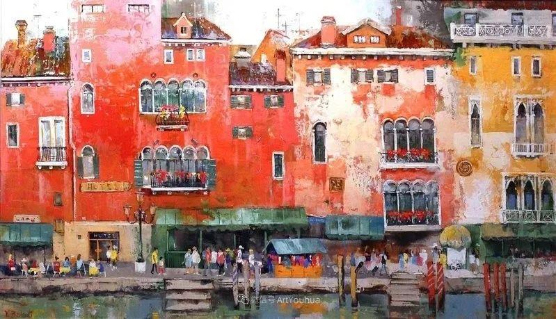 她画的建筑,色彩太迷人了!捷克女艺术家维罗妮卡·贝诺尼插图52