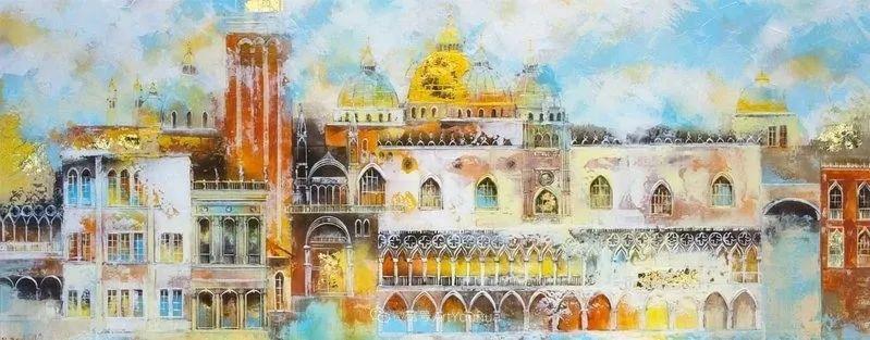 她画的建筑,色彩太迷人了!捷克女艺术家维罗妮卡·贝诺尼插图53