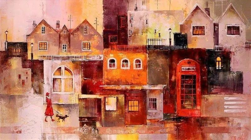 她画的建筑,色彩太迷人了!捷克女艺术家维罗妮卡·贝诺尼插图54