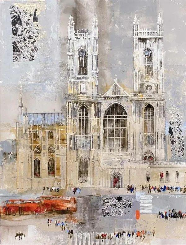 她画的建筑,色彩太迷人了!捷克女艺术家维罗妮卡·贝诺尼插图55