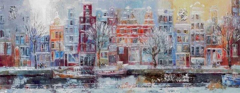 她画的建筑,色彩太迷人了!捷克女艺术家维罗妮卡·贝诺尼插图58