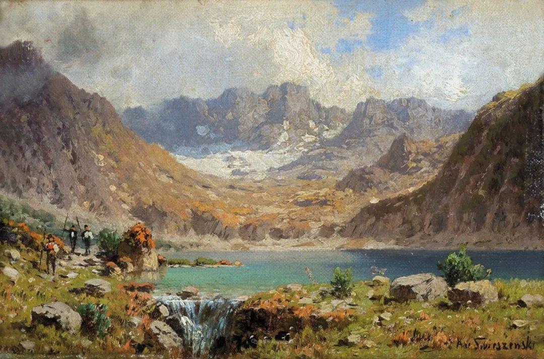波兰风景画家亚历山大·斯维谢夫斯基(1839-1895)插图