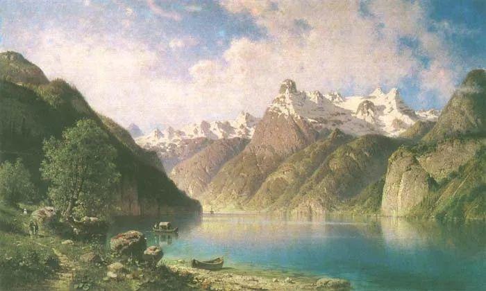 波兰风景画家亚历山大·斯维谢夫斯基(1839-1895)插图2