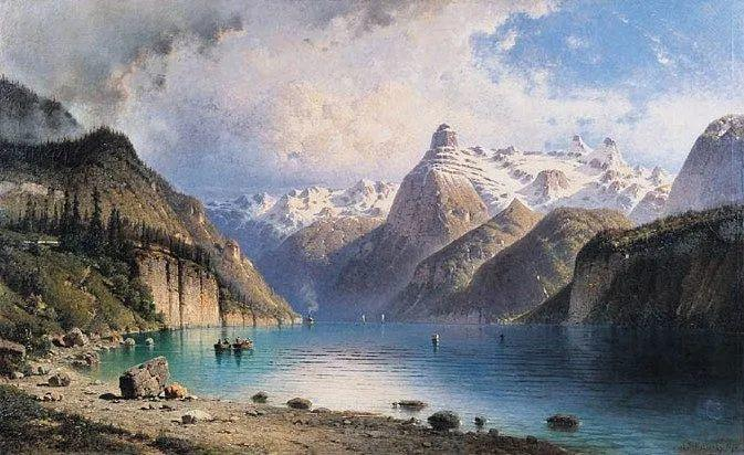 波兰风景画家亚历山大·斯维谢夫斯基(1839-1895)插图3