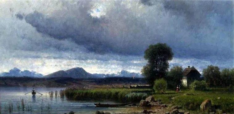 波兰风景画家亚历山大·斯维谢夫斯基(1839-1895)插图5