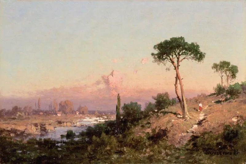 波兰风景画家亚历山大·斯维谢夫斯基(1839-1895)插图6