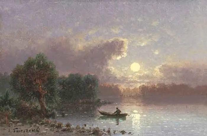 波兰风景画家亚历山大·斯维谢夫斯基(1839-1895)插图7