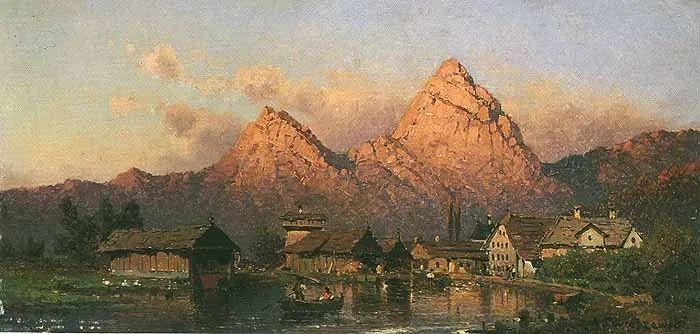 波兰风景画家亚历山大·斯维谢夫斯基(1839-1895)插图9