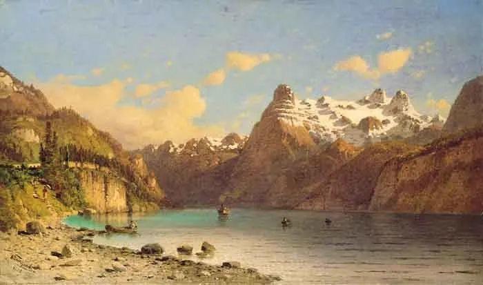 波兰风景画家亚历山大·斯维谢夫斯基(1839-1895)插图10