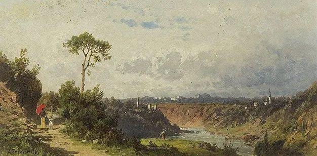 波兰风景画家亚历山大·斯维谢夫斯基(1839-1895)插图11