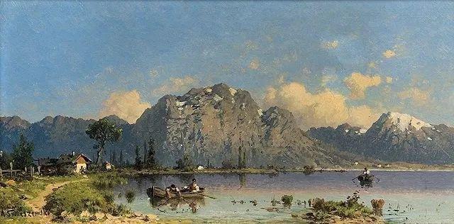 波兰风景画家亚历山大·斯维谢夫斯基(1839-1895)插图12