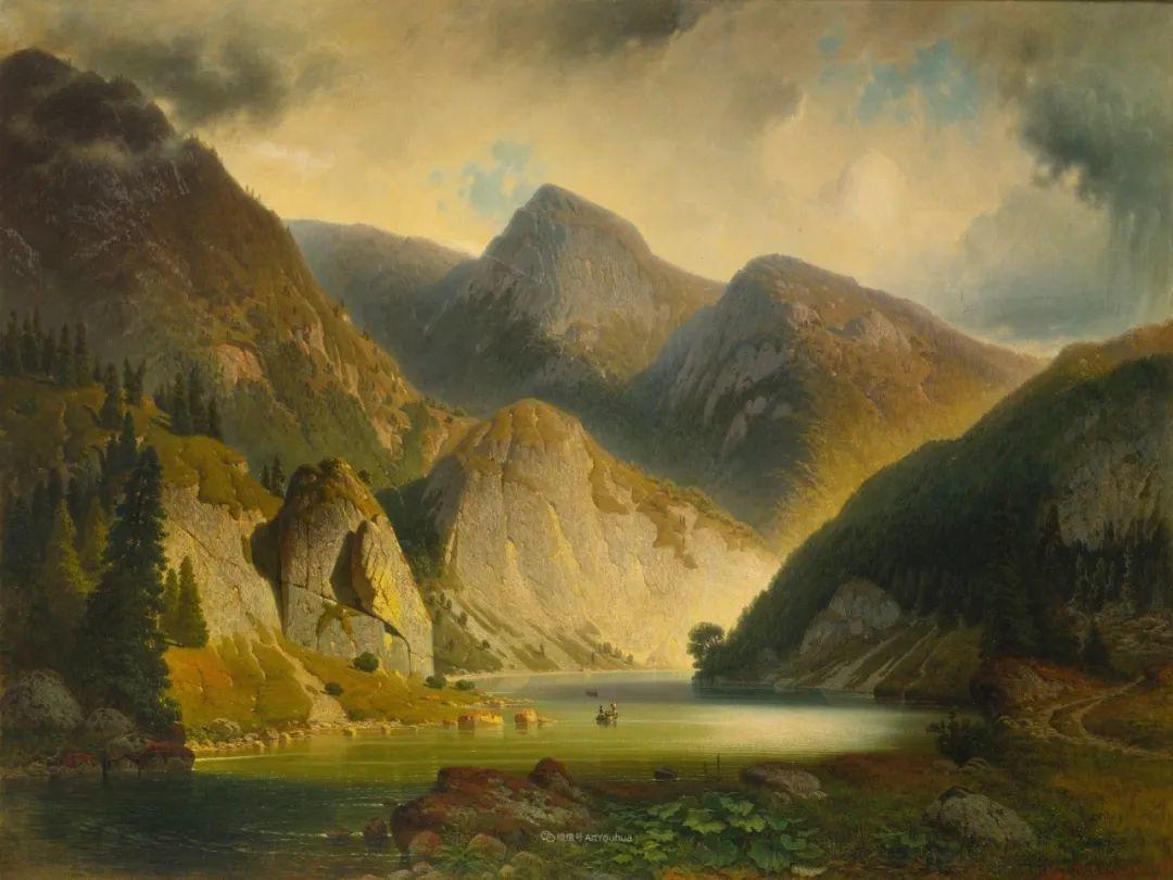 波兰风景画家亚历山大·斯维谢夫斯基(1839-1895)插图13