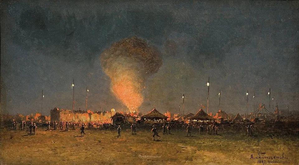 波兰风景画家亚历山大·斯维谢夫斯基(1839-1895)插图15