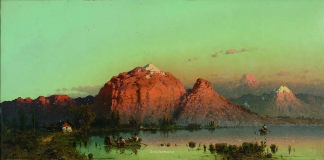 波兰风景画家亚历山大·斯维谢夫斯基(1839-1895)插图17