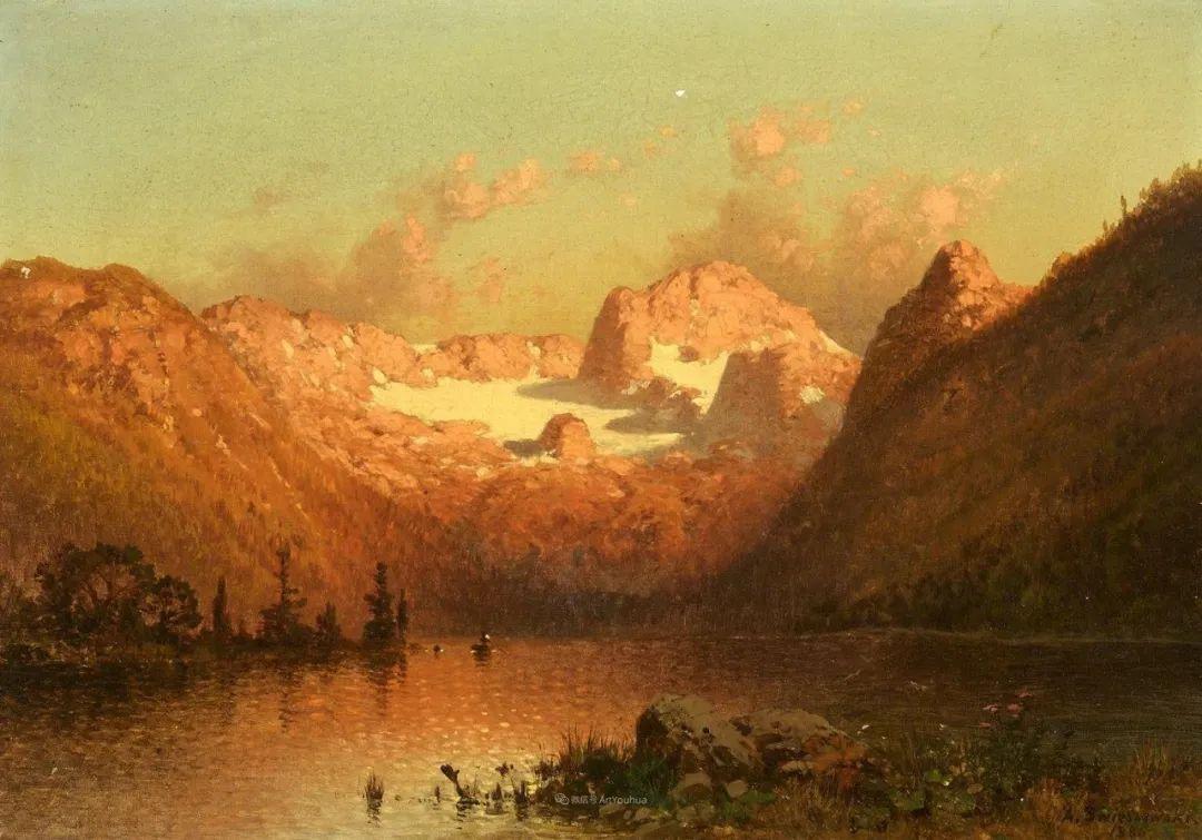 波兰风景画家亚历山大·斯维谢夫斯基(1839-1895)插图18