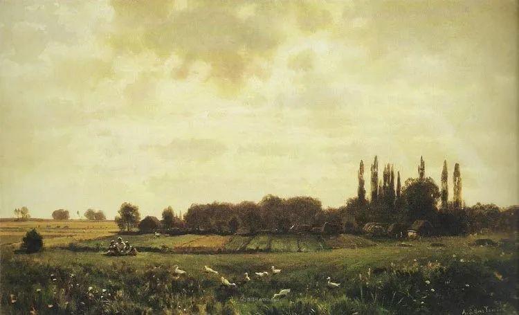 波兰风景画家亚历山大·斯维谢夫斯基(1839-1895)插图19