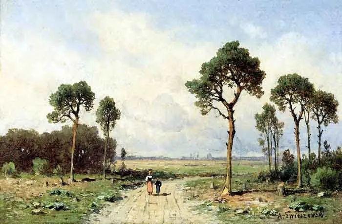 波兰风景画家亚历山大·斯维谢夫斯基(1839-1895)插图20
