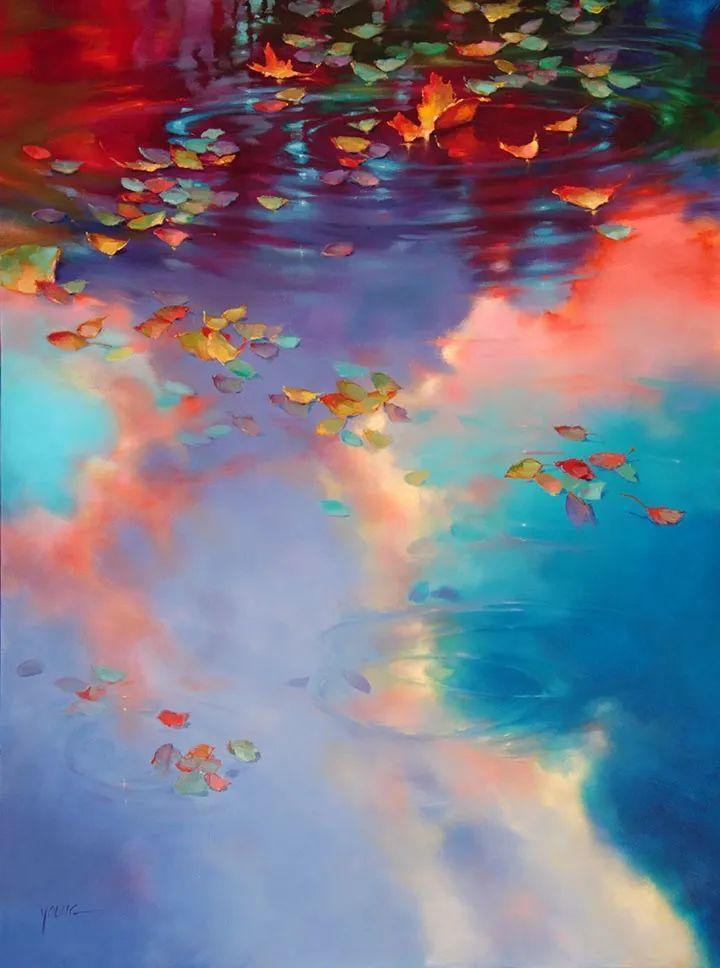 色彩表现浑然天成,她画出了心中的睡莲!德国艺术家唐娜·杨插图1