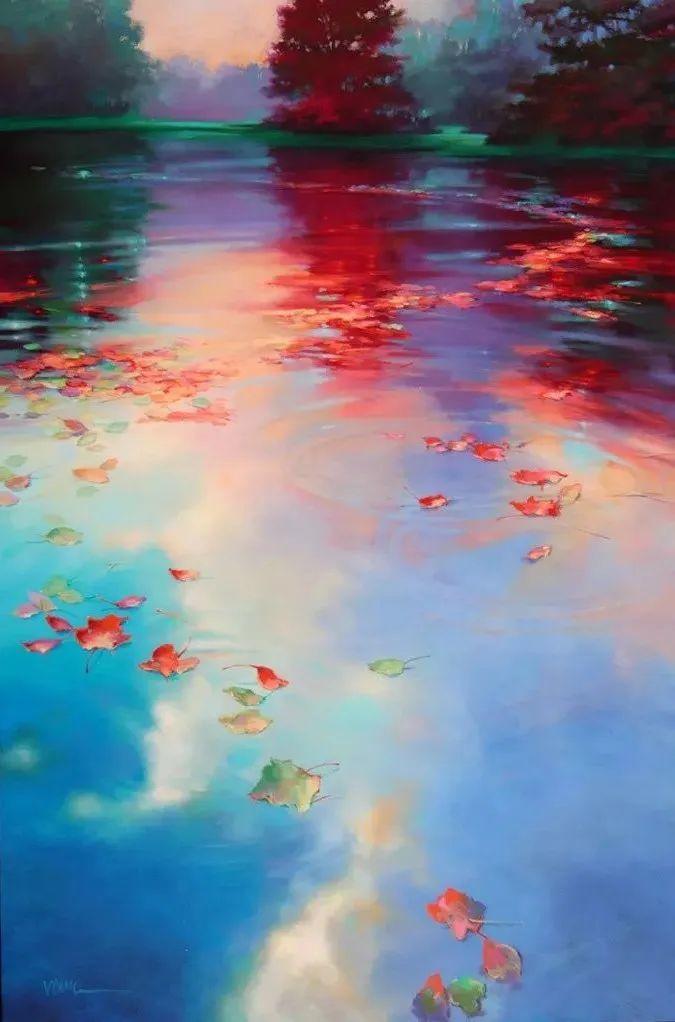 色彩表现浑然天成,她画出了心中的睡莲!德国艺术家唐娜·杨插图3