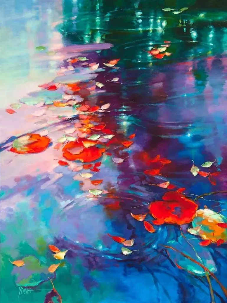 色彩表现浑然天成,她画出了心中的睡莲!德国艺术家唐娜·杨插图5