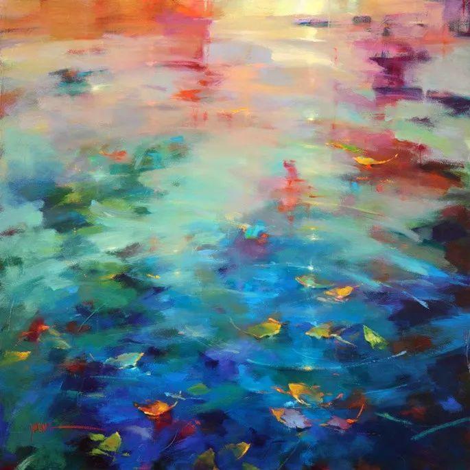 色彩表现浑然天成,她画出了心中的睡莲!德国艺术家唐娜·杨插图7