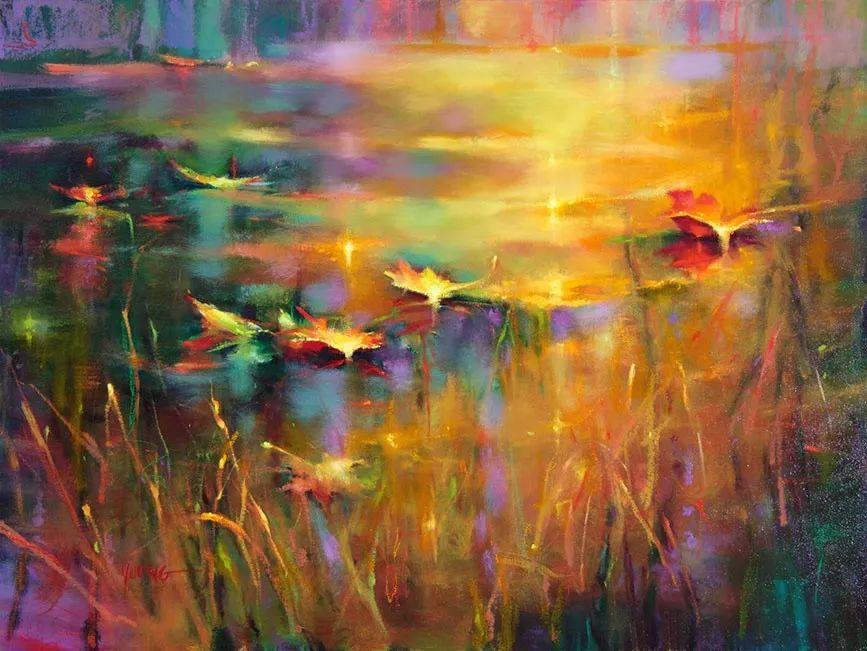 色彩表现浑然天成,她画出了心中的睡莲!德国艺术家唐娜·杨插图9