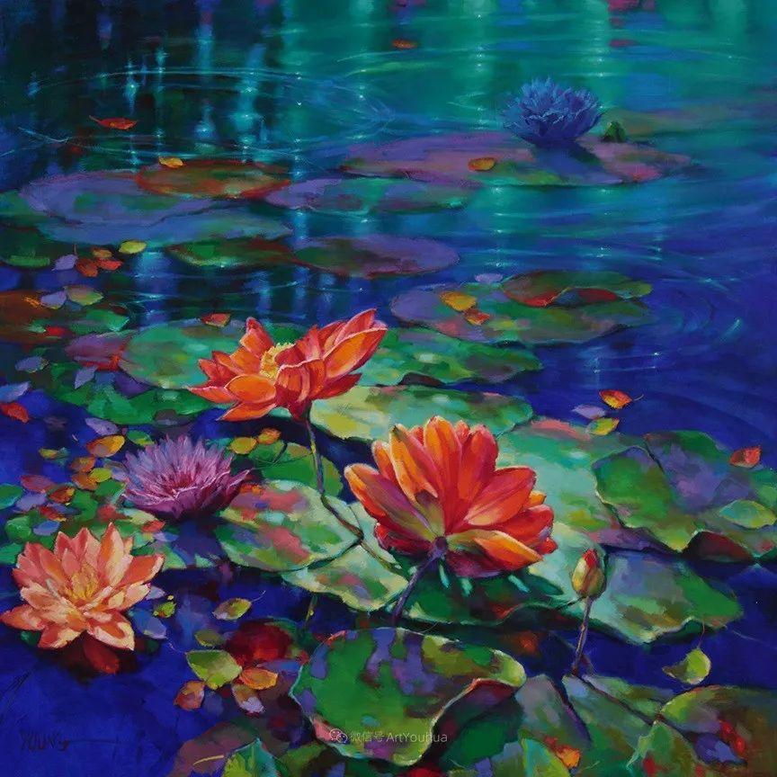 色彩表现浑然天成,她画出了心中的睡莲!德国艺术家唐娜·杨插图13