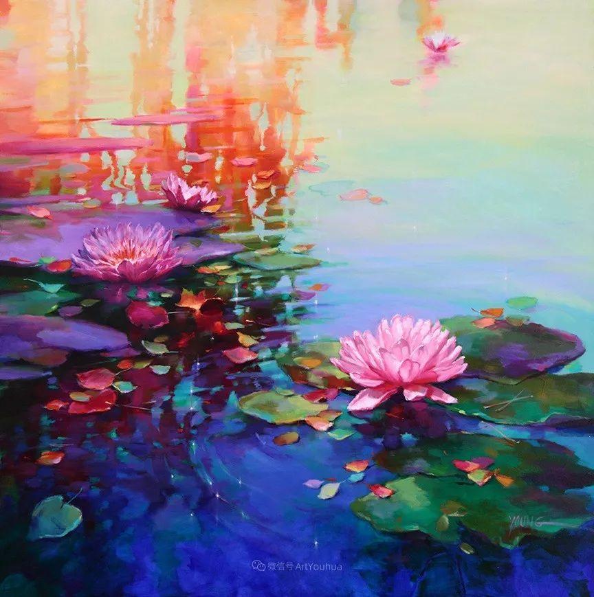 色彩表现浑然天成,她画出了心中的睡莲!德国艺术家唐娜·杨插图15