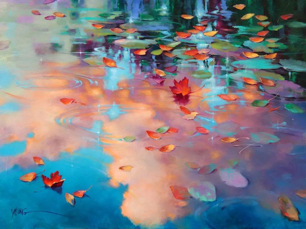 色彩表现浑然天成,她画出了心中的睡莲!德国艺术家唐娜·杨插图17