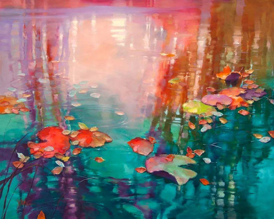 色彩表现浑然天成,她画出了心中的睡莲!德国艺术家唐娜·杨插图19