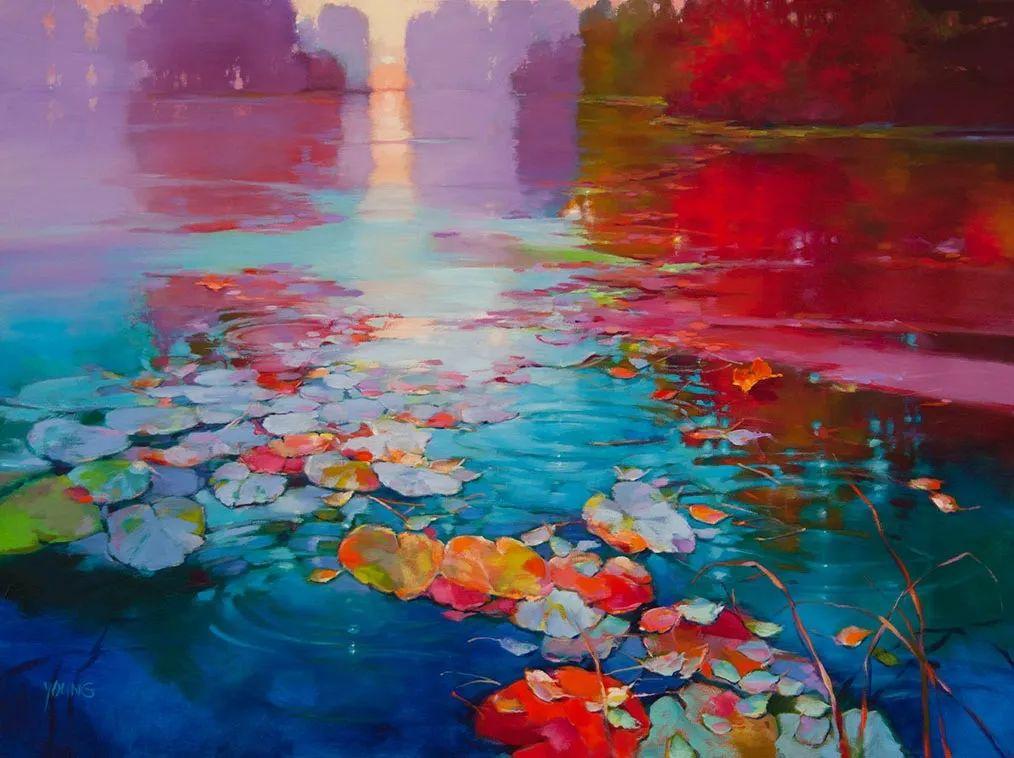 色彩表现浑然天成,她画出了心中的睡莲!德国艺术家唐娜·杨插图21