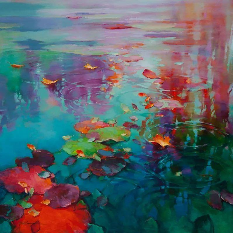 色彩表现浑然天成,她画出了心中的睡莲!德国艺术家唐娜·杨插图23