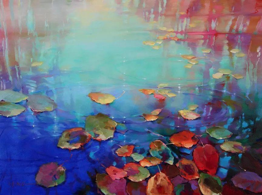 色彩表现浑然天成,她画出了心中的睡莲!德国艺术家唐娜·杨插图25