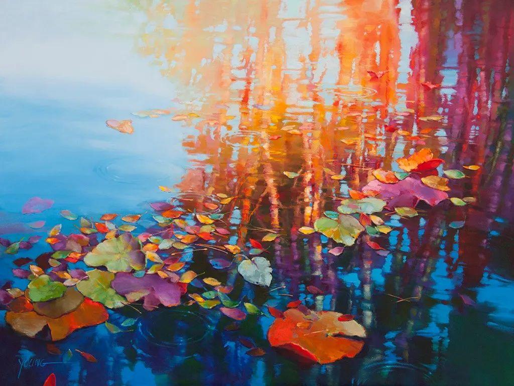 色彩表现浑然天成,她画出了心中的睡莲!德国艺术家唐娜·杨插图27