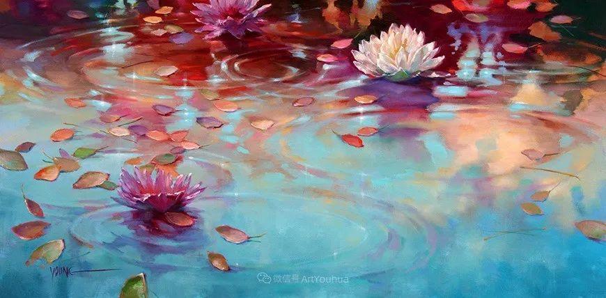 色彩表现浑然天成,她画出了心中的睡莲!德国艺术家唐娜·杨插图29
