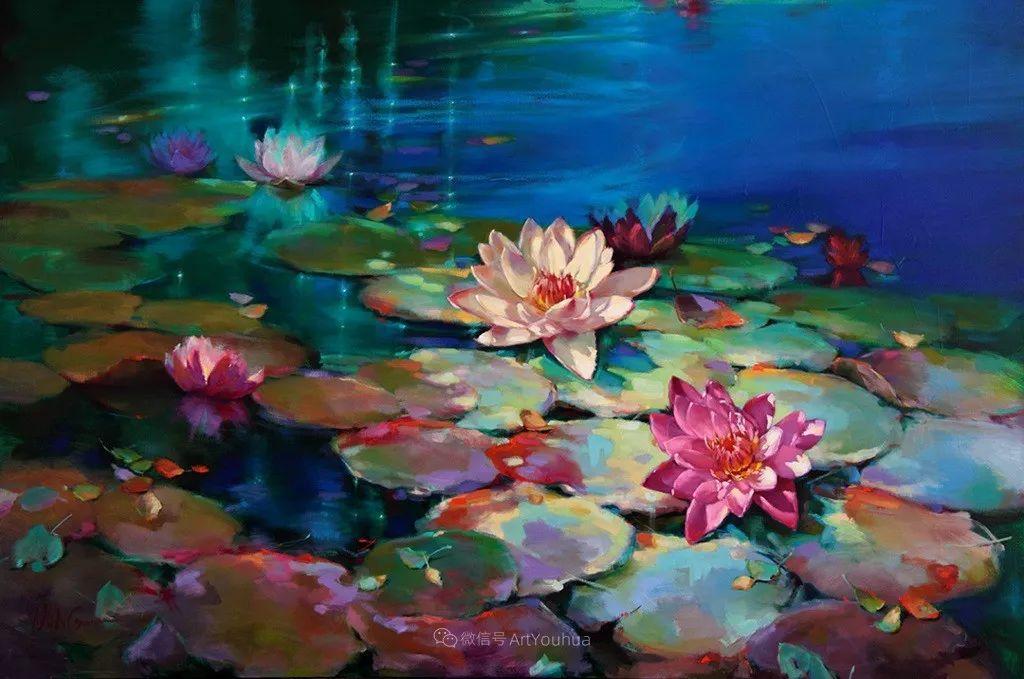色彩表现浑然天成,她画出了心中的睡莲!德国艺术家唐娜·杨插图31