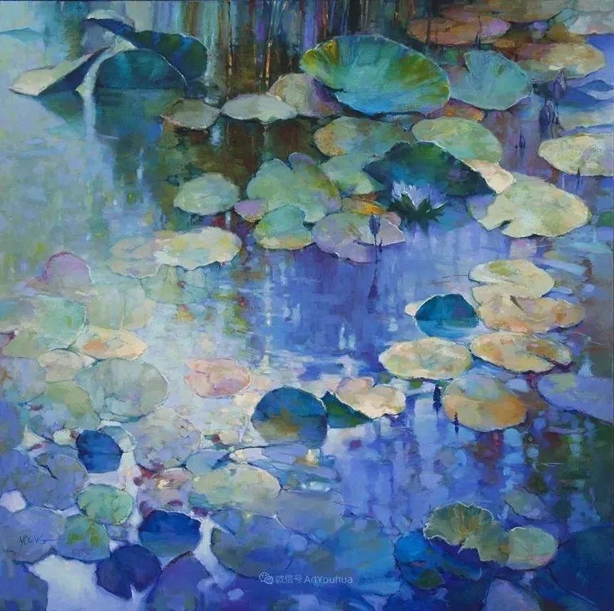 色彩表现浑然天成,她画出了心中的睡莲!德国艺术家唐娜·杨插图33