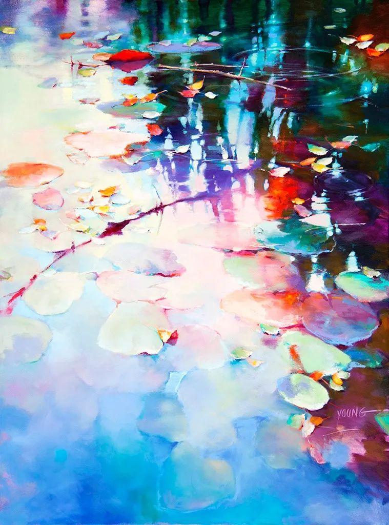 色彩表现浑然天成,她画出了心中的睡莲!德国艺术家唐娜·杨插图35