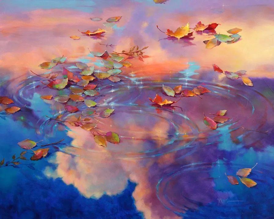 色彩表现浑然天成,她画出了心中的睡莲!德国艺术家唐娜·杨插图37