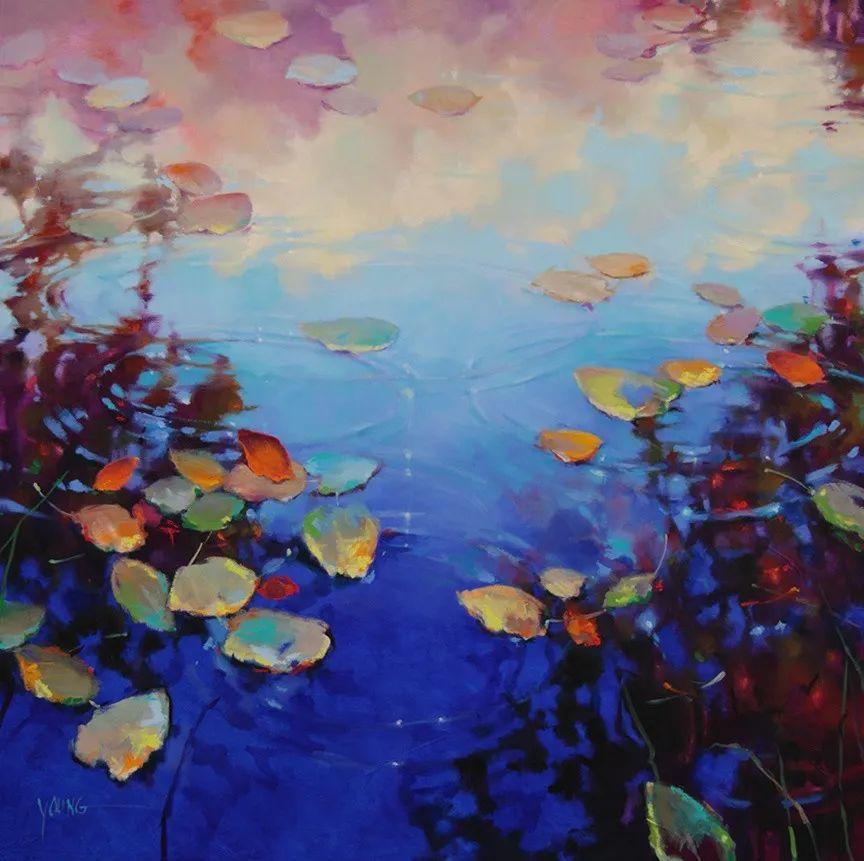 色彩表现浑然天成,她画出了心中的睡莲!德国艺术家唐娜·杨插图39