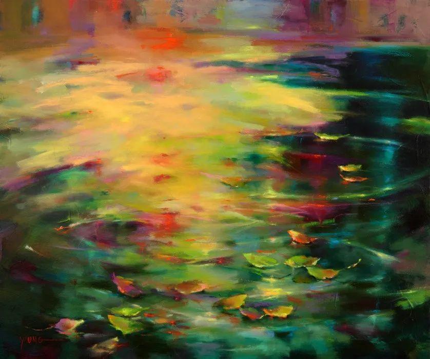 色彩表现浑然天成,她画出了心中的睡莲!德国艺术家唐娜·杨插图41