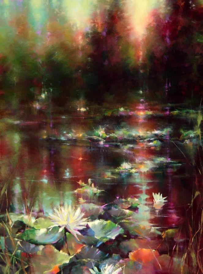 色彩表现浑然天成,她画出了心中的睡莲!德国艺术家唐娜·杨插图43