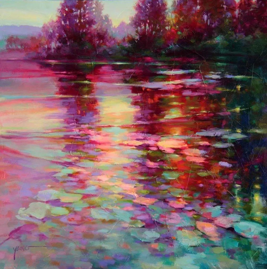 色彩表现浑然天成,她画出了心中的睡莲!德国艺术家唐娜·杨插图45