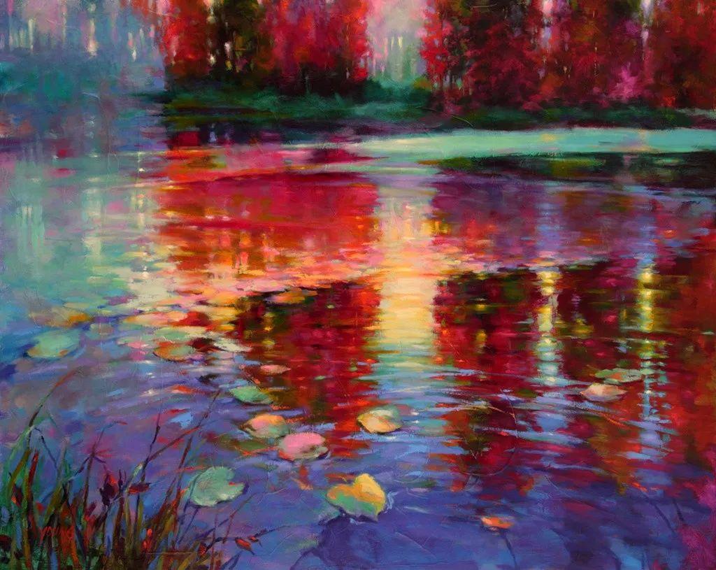 色彩表现浑然天成,她画出了心中的睡莲!德国艺术家唐娜·杨插图47