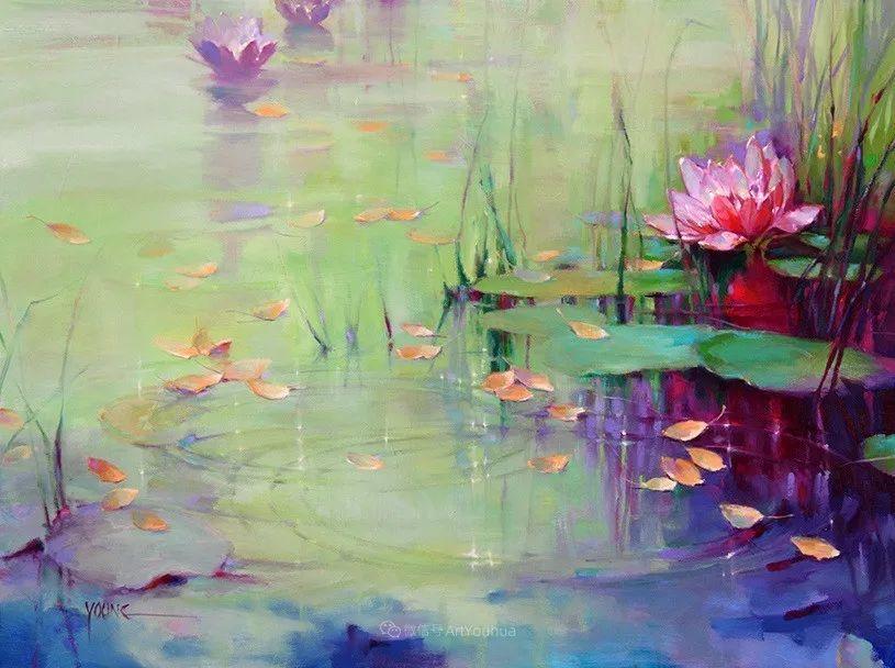色彩表现浑然天成,她画出了心中的睡莲!德国艺术家唐娜·杨插图49