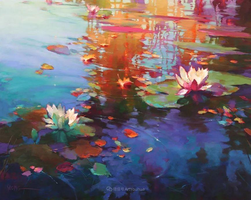 色彩表现浑然天成,她画出了心中的睡莲!德国艺术家唐娜·杨插图51